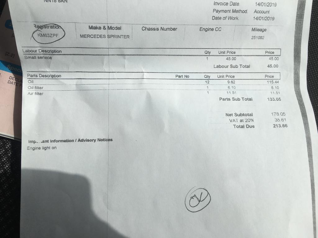 Lot 7 - 2013 MERCEDES-BENZ SPRINTER 313CDI MEDIUM DIESEL - 3.5t Van **ONE OWNER FROM NEW**