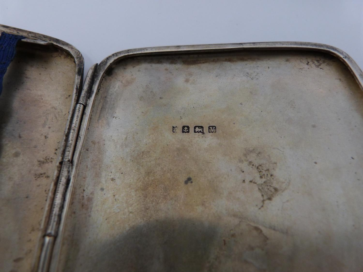 Three monogrammed silver cigarette cases, large case, birmingham 1920, Charles S Green & Co Ltd. - Image 4 of 10