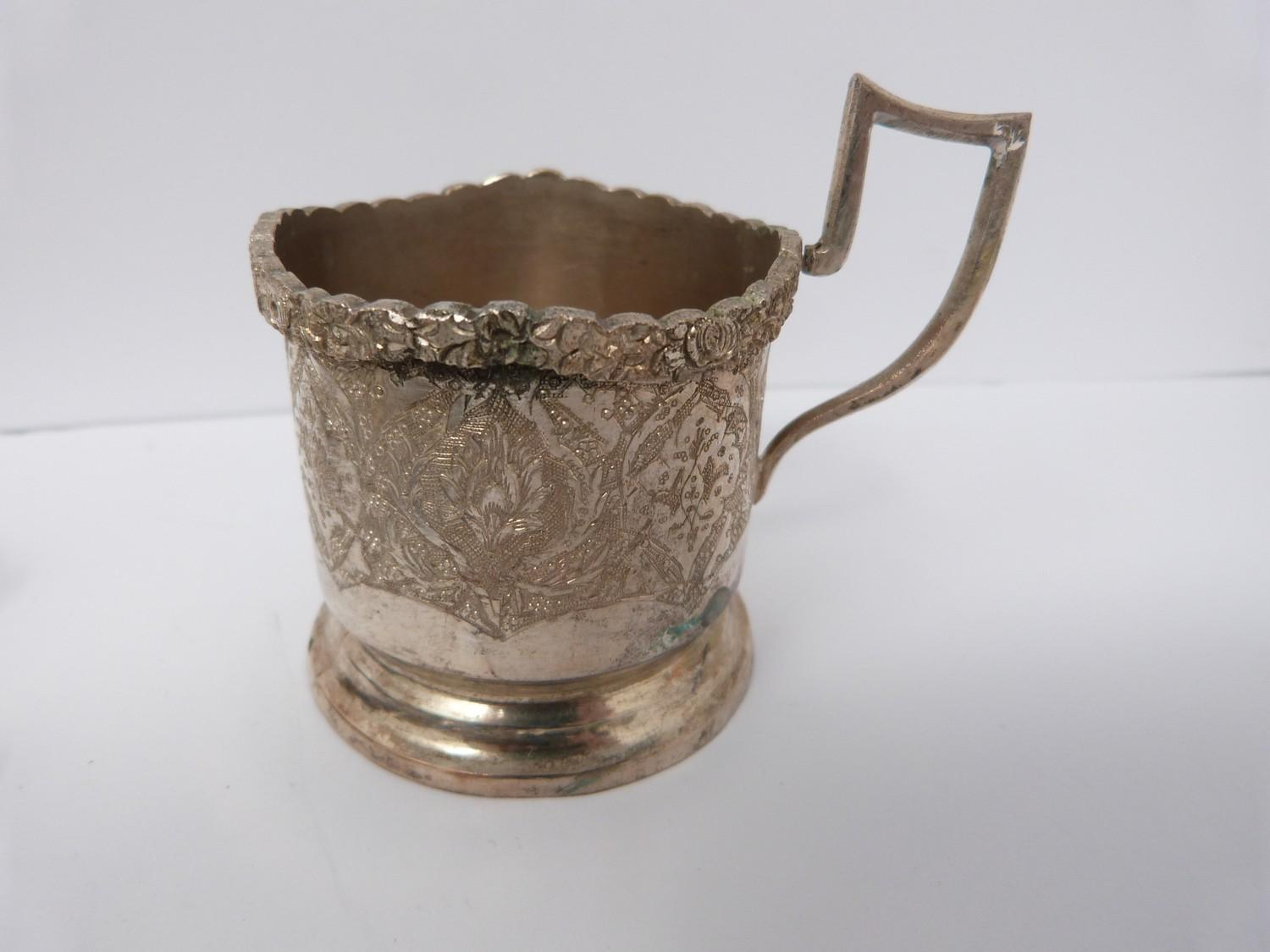 A collection of silver plated cutlery, cup covers and other items. - Image 3 of 4