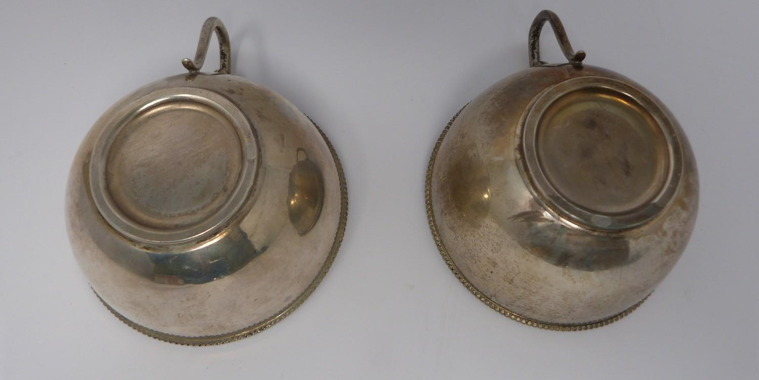 A pair of gilded silver Austrian punch cups, 1872, A city mark, makers mark JR. (169g). - Image 3 of 6