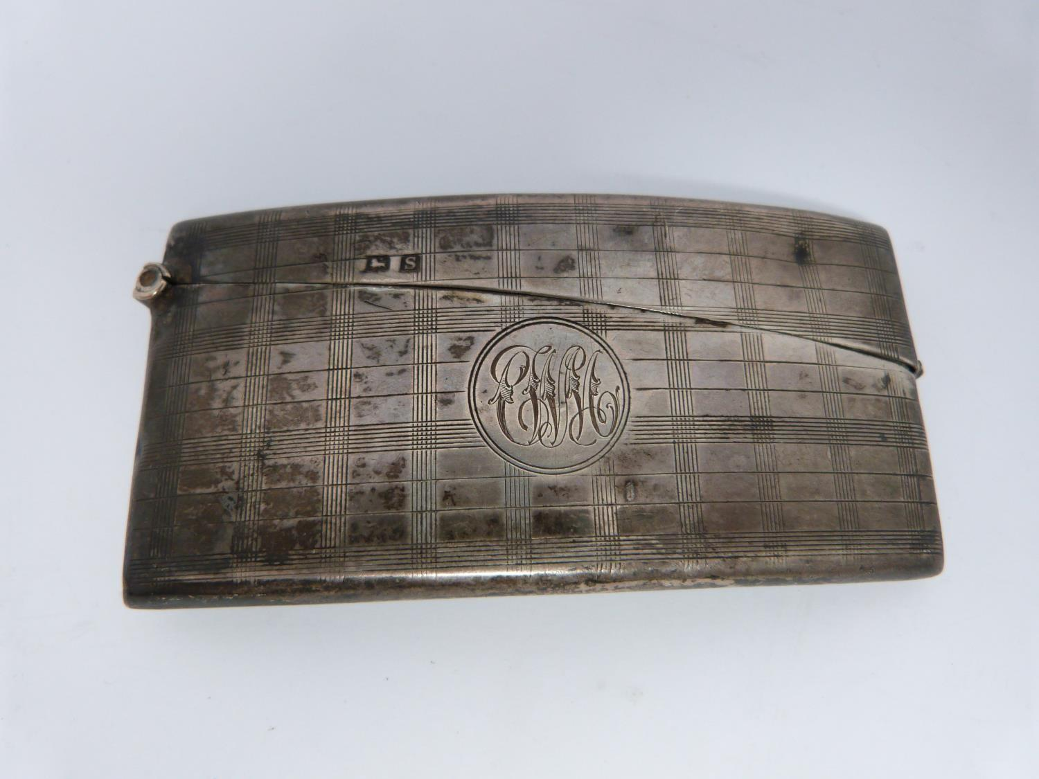 Two silver cigarette cases and a Royal engineer hat badge, one gilded inside, Birmingham, 1925, - Image 5 of 7