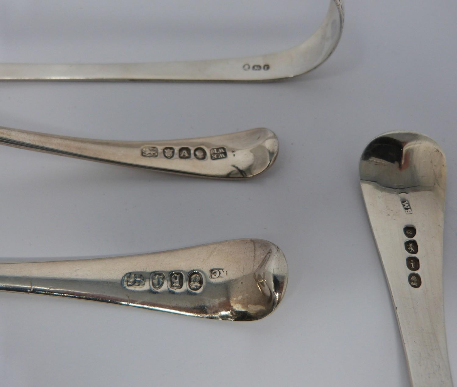 Georgian and Victorian silver sugar sifting ladles, tongs and boot hook, Georgian ladles and - Image 6 of 8
