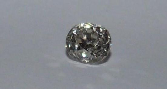 Loose cushion old mine diamond, J, SI, approx 0.5 cts, slight chip to the side. - Image 5 of 6