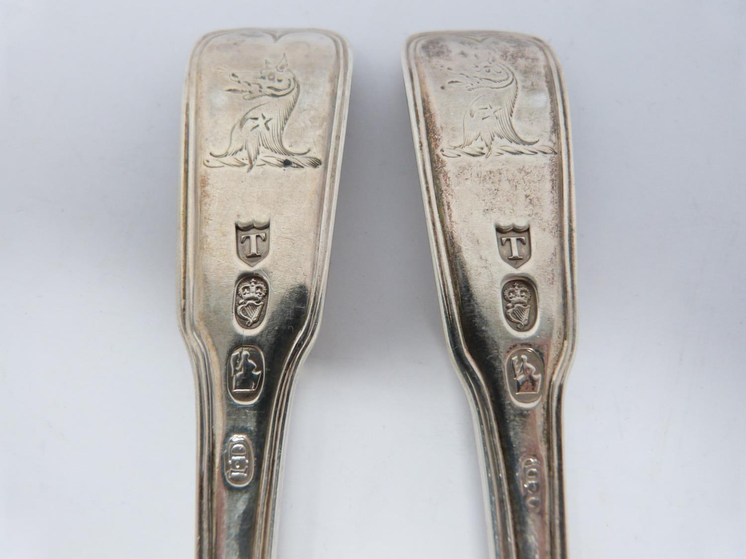 A collection of silver and white metal cutlery, including two Georgian serving spoons, 1791, ch - Image 8 of 8