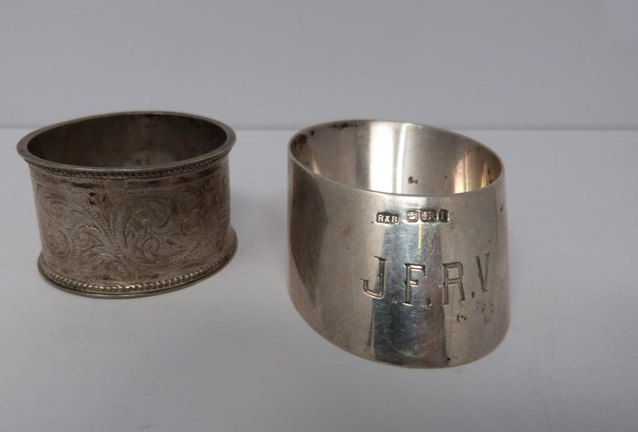 A collection of silver cruets and two silver napkin rings, Elkington and Co, Birmingham, - Image 2 of 11