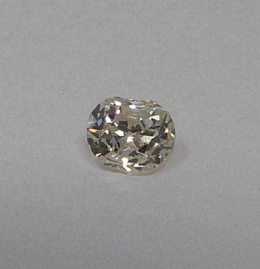 A Cushion shape loose old mine diamond, tinted SI, approx 0.54 cts - Image 3 of 5