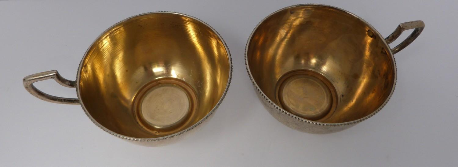 A pair of gilded silver Austrian punch cups, 1872, A city mark, makers mark JR. (169g). - Image 2 of 6