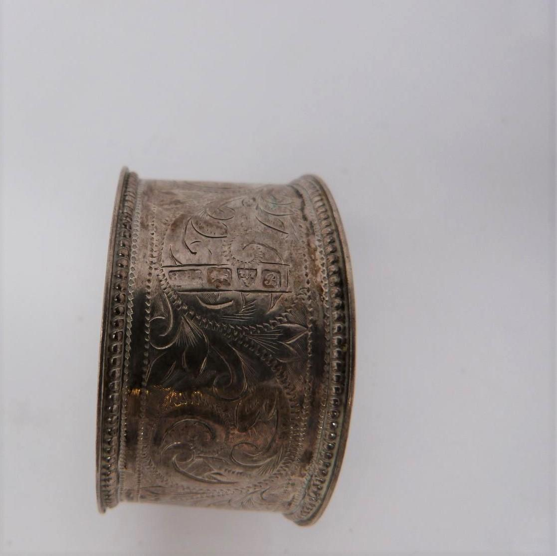 A collection of silver cruets and two silver napkin rings, Elkington and Co, Birmingham, - Image 4 of 11