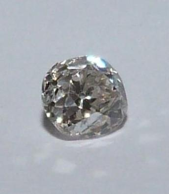 Loose cushion old mine diamond, J, SI, approx 0.5 cts, slight chip to the side. - Image 4 of 6