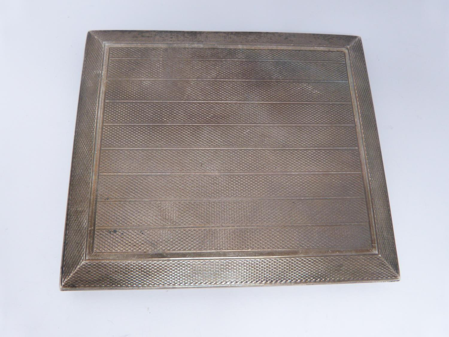 Two silver cigarette cases and a Royal engineer hat badge, one gilded inside, Birmingham, 1925, - Image 4 of 7