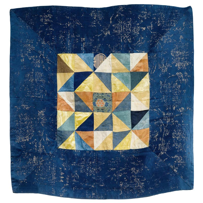 A SILK PATCHWORK ALTAR COVER. Tibet, silk fragments of different ...