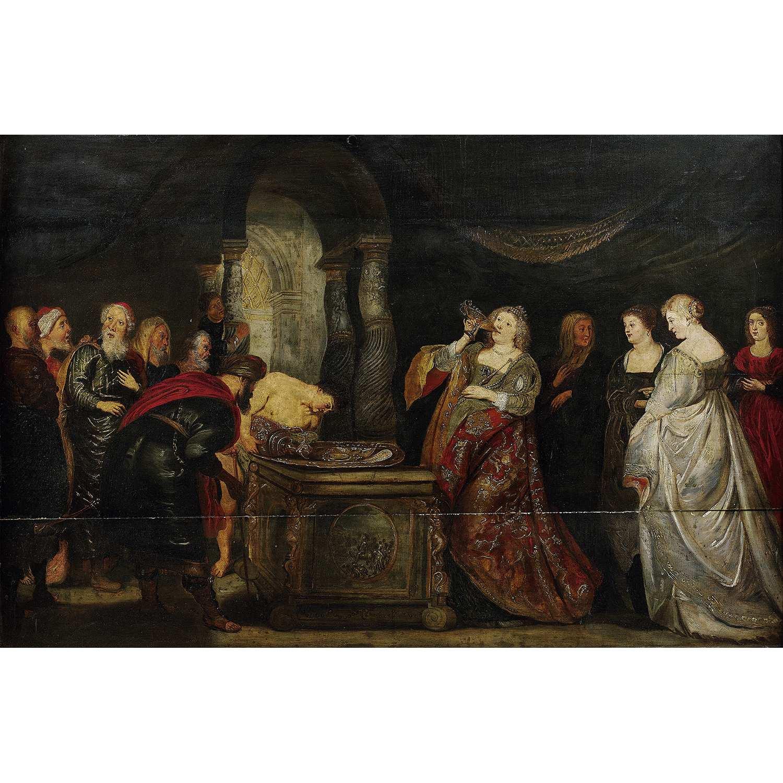 Los 32 - ÉCOLE FLAMANDE DU XVIIe SIECLE, SUIVEUR DE PETER-PAUL RUBENS ARTEMISE Panneau de chêne, quatre