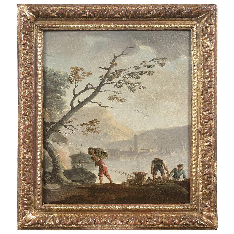 Los 44 - Attribué à Charles-François LACROIX de MARSEILLE (?-après 1784) En bordure de l'entrée du port