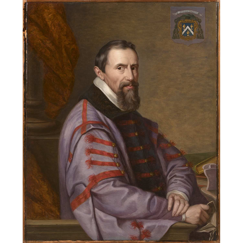 Los 33 - École FRANÇAISE du XIXe siècle Portrait dit de Jean Lemire évêque d'Anvers Toile Restaurations
