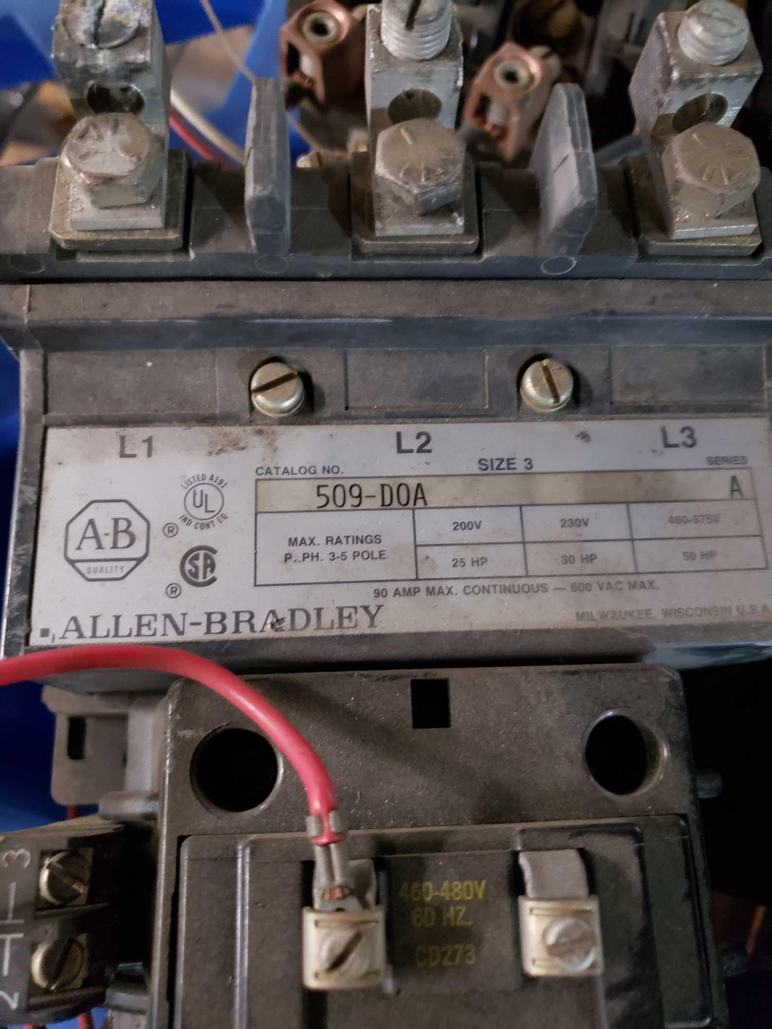 Lot 19 - Large lot of assorted Contactors up to size 3 from Square D, Cutler Hammer and Allen Bradley