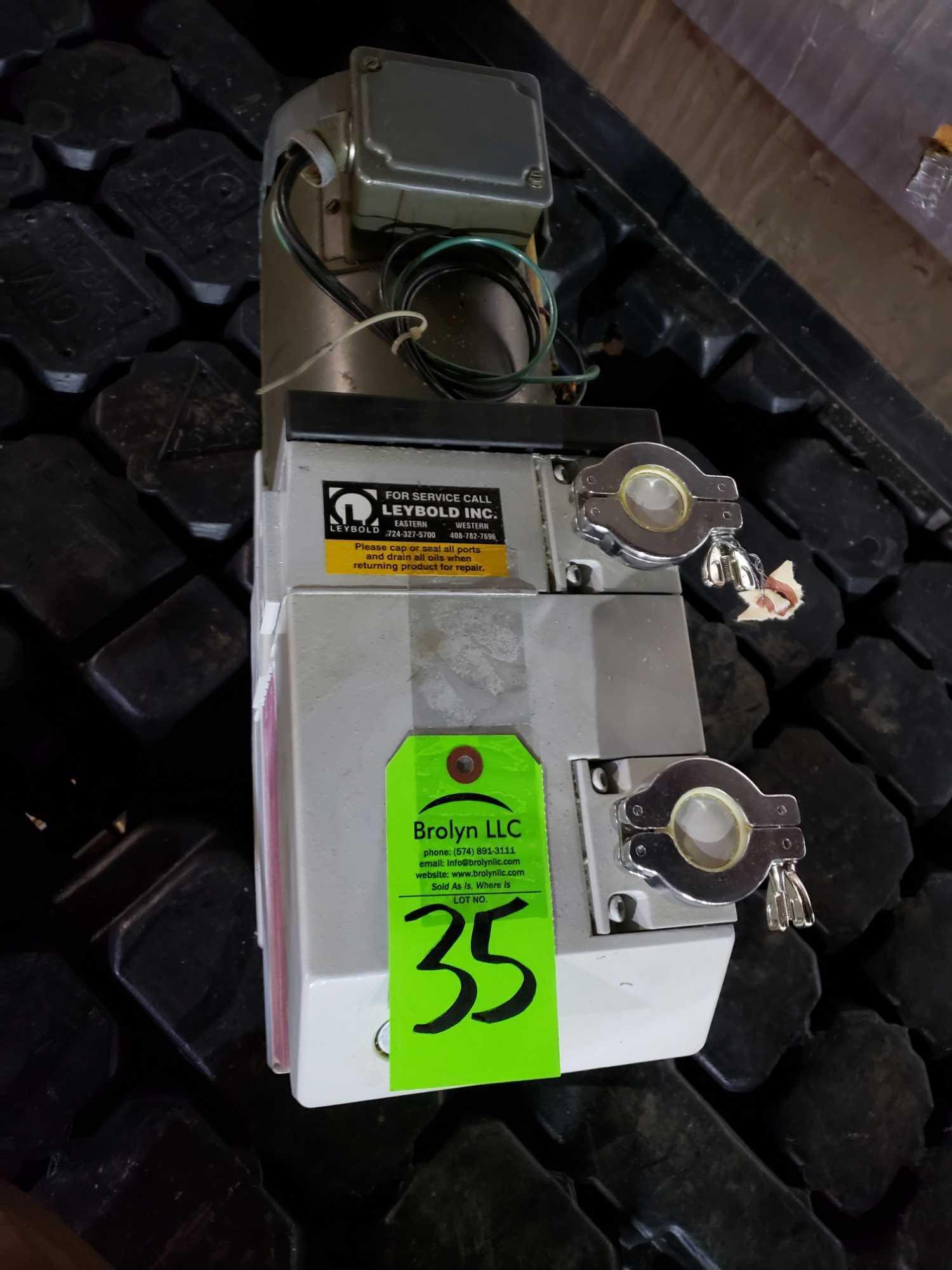 Lot 35 - Leybold TriVac model D16B vacuum pump.