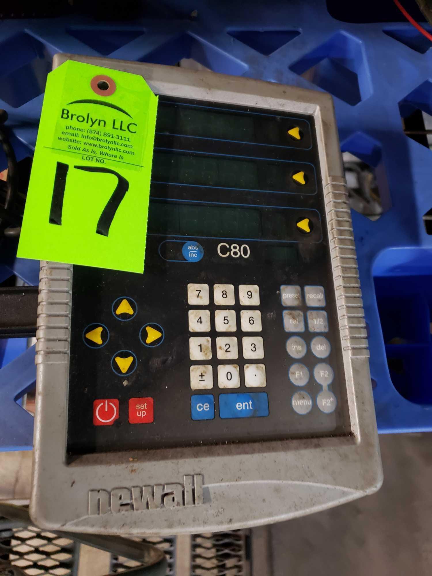 Lot 17 - Newall model C80 Digital readout DRO