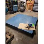 "Platform freight scale with Transcell TI-500E  digital readout. 72""x72"" steel deck platform. Appears"
