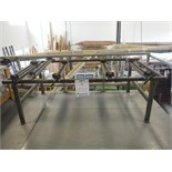 STEEL FRAME ASSEMBLY TABLE, C/W 5 CLAMPS