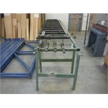 STEEL FRAME ASSEMBLY TABLE, C/W 14 CLAMPS