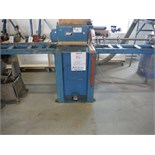 """""""NORMAND"""" CUT OFF SAW, MODEL NA 1200, 600 volts, c/w: roller conveyor, 8-measuring flip stops"""