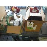 (2) boxes of electric motors, gauges, plates (LOT) - Rigging Fee: $25