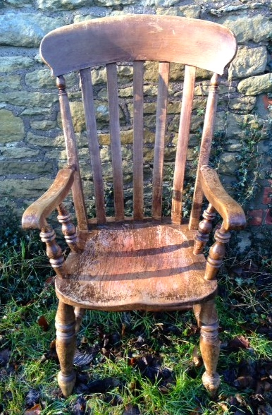Lot 46 - A 19th c ash and elm high back country chair