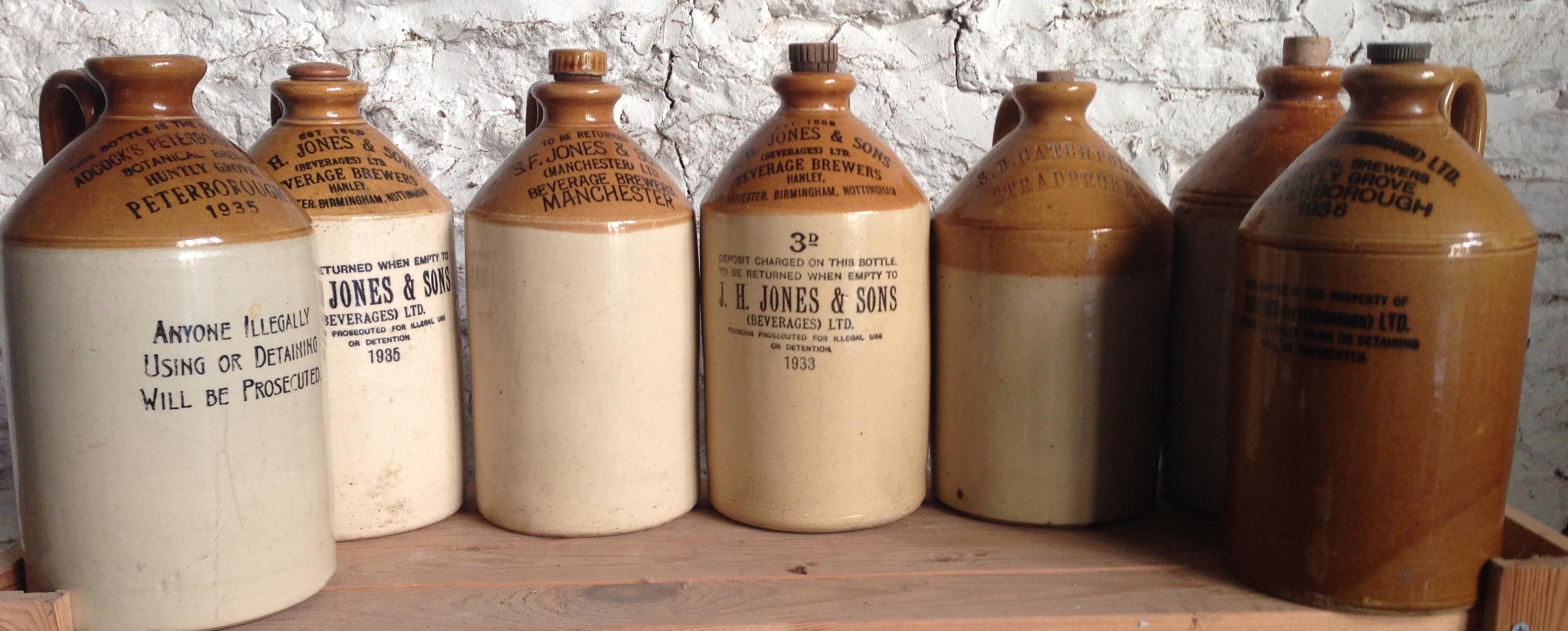 Lot 5 - Seven various stoneware jars