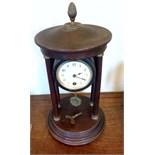 A 19th c mahogany portico mantle clock