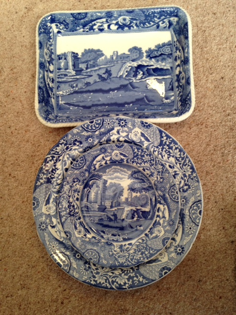 Lot 37 - Collection Spode blue and white