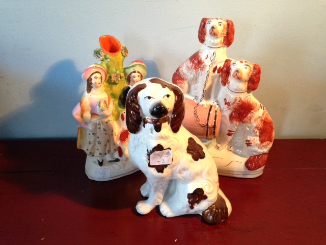 Lot 20 - Three various Staffordshire figures