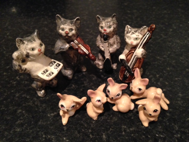 Lot 30 - Collection small animal figures inc. Beswick cats