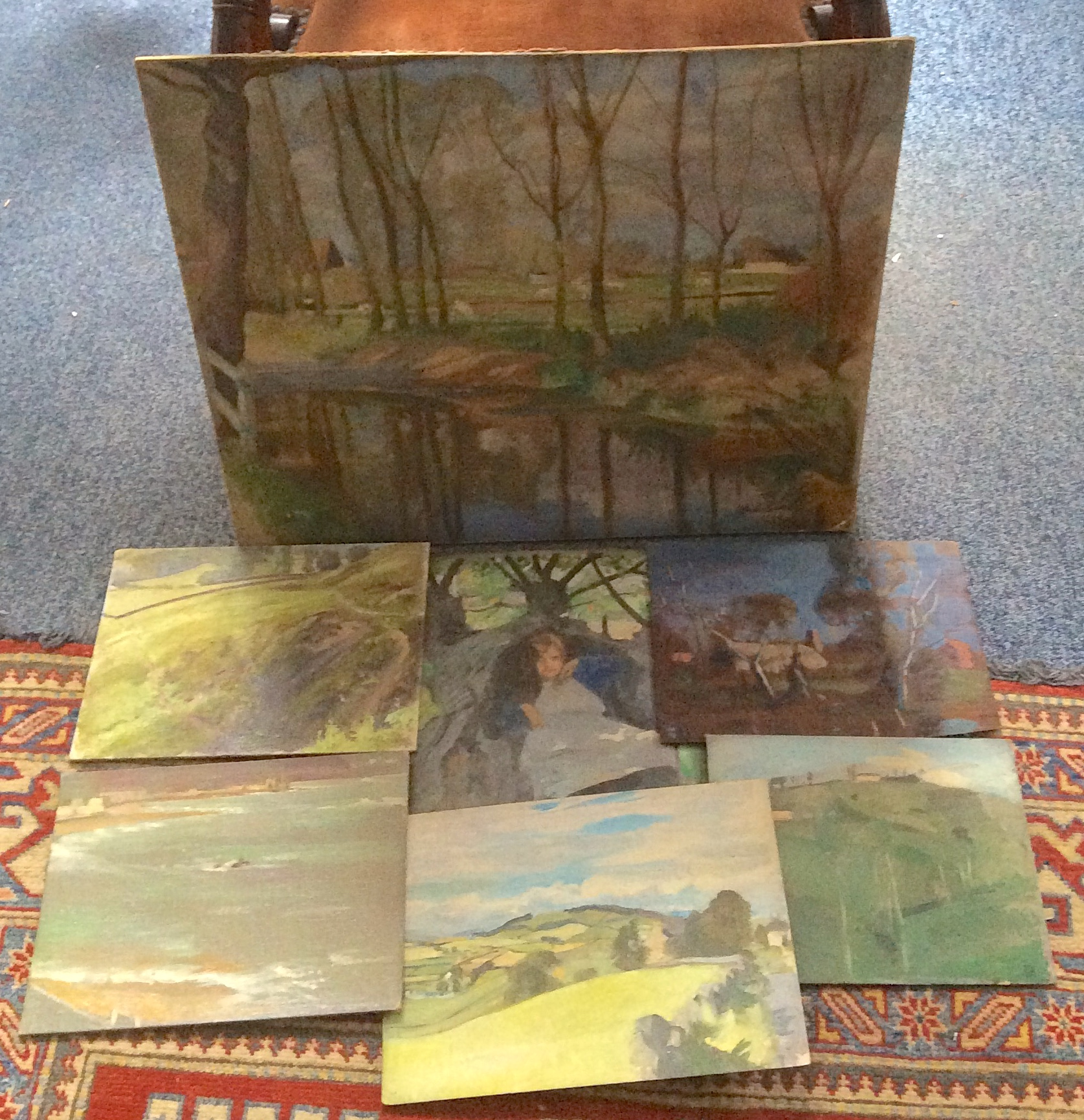 Lot 447 - Seven various William Oliphant Hutchison sketches