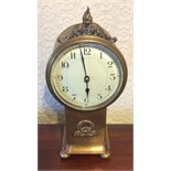 Brass mantle clock with French movement