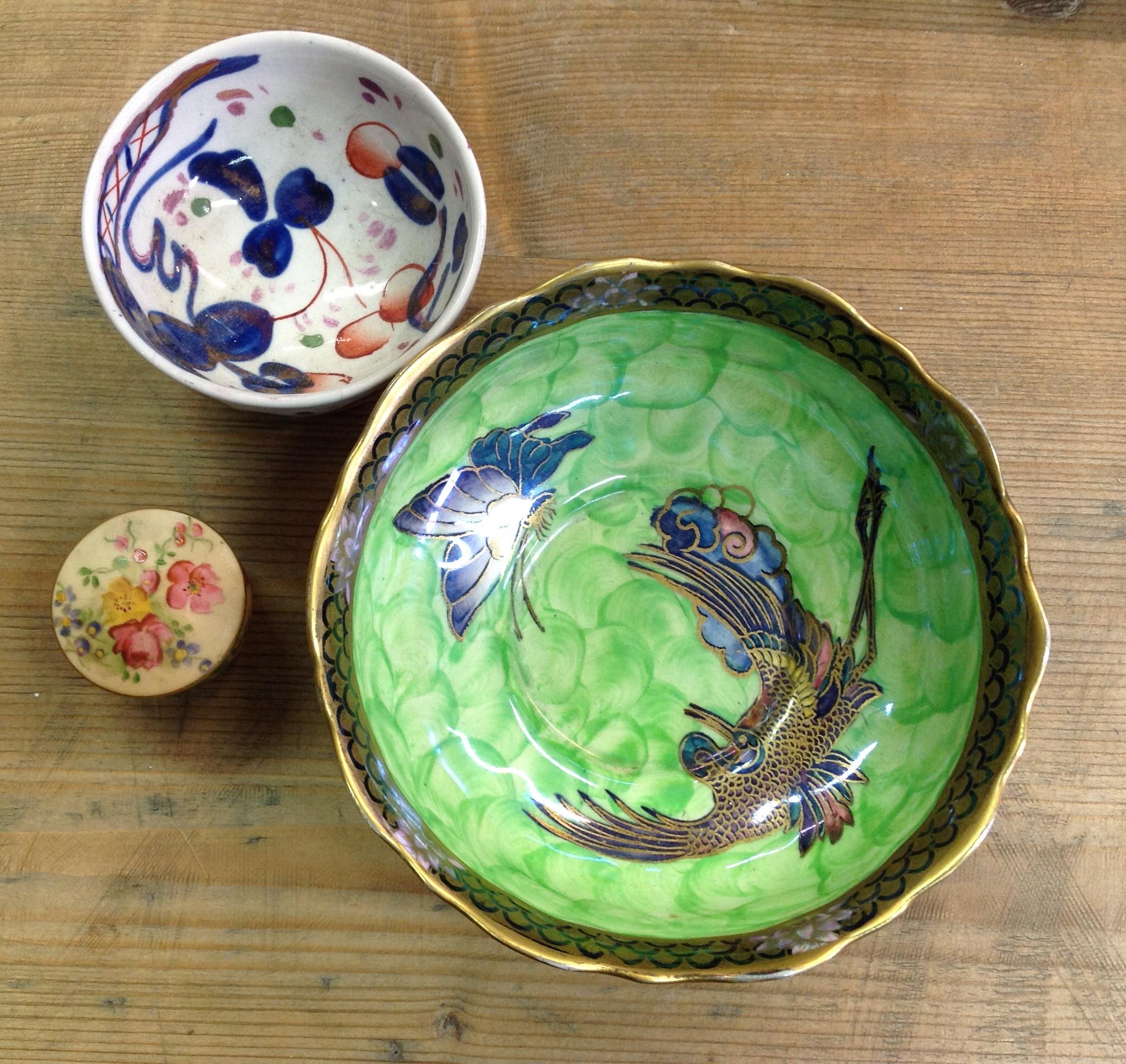Lot 2 - Three pieces ceramics Royal Worcester, Maling etc.