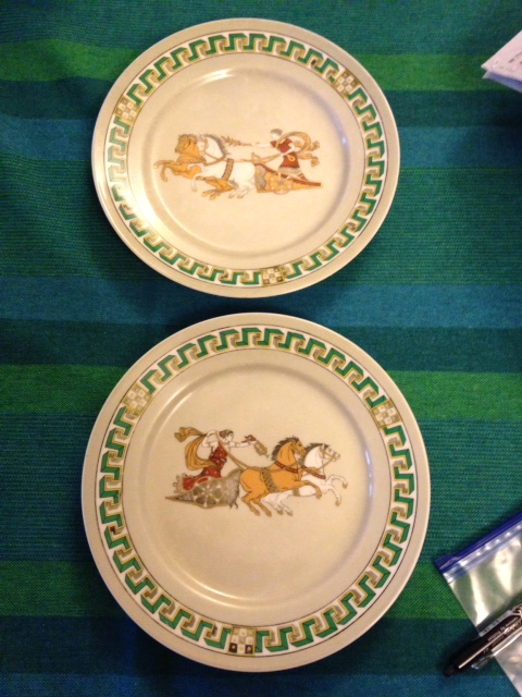 Lot 35 - Pair mid 19th c porcelain plates
