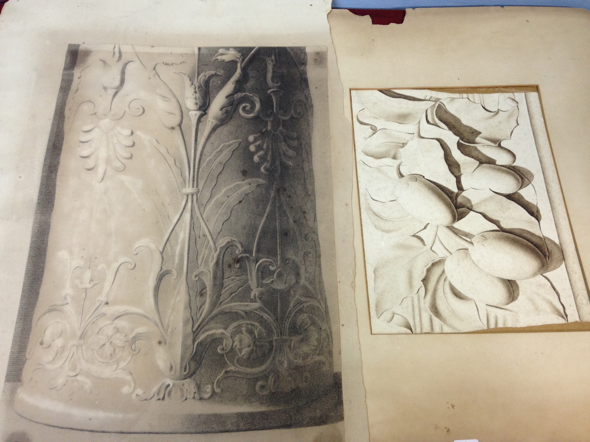 Lot 436 - Two pencil drawings Edward S Kennedy fl. 1863-90 44.5 x 30 and 21 x 28