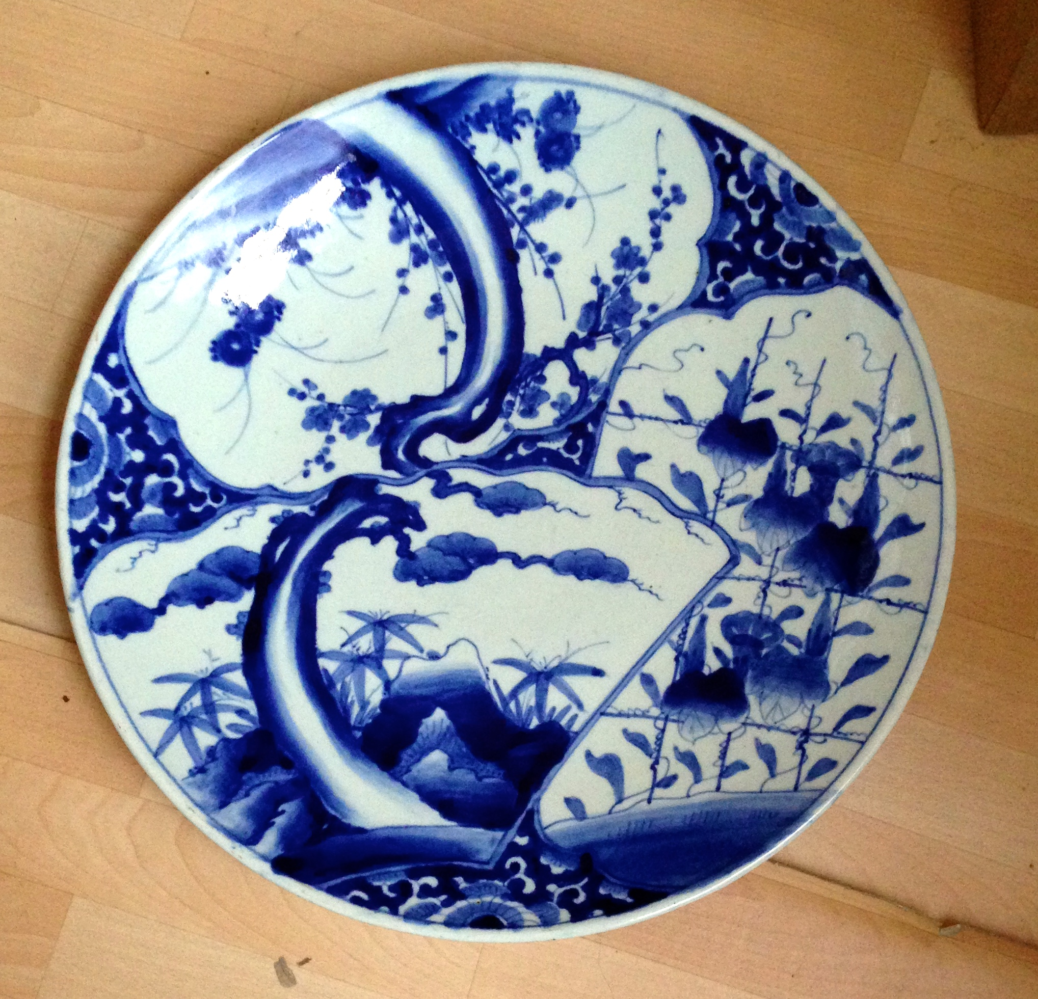 Lot 58 - Large Japanese porcelain charger