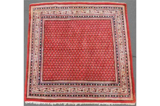 Serabend Mir Teppich Quadratisch Iran 160 Cm X 163 Cm Handgekn