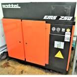 Mattei EMS 250 Screw Type Air Compressor, S/N 49386