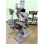 Bridgeport Series 1 1.5HP Variable Speed Vertical Mill, S/N 171178