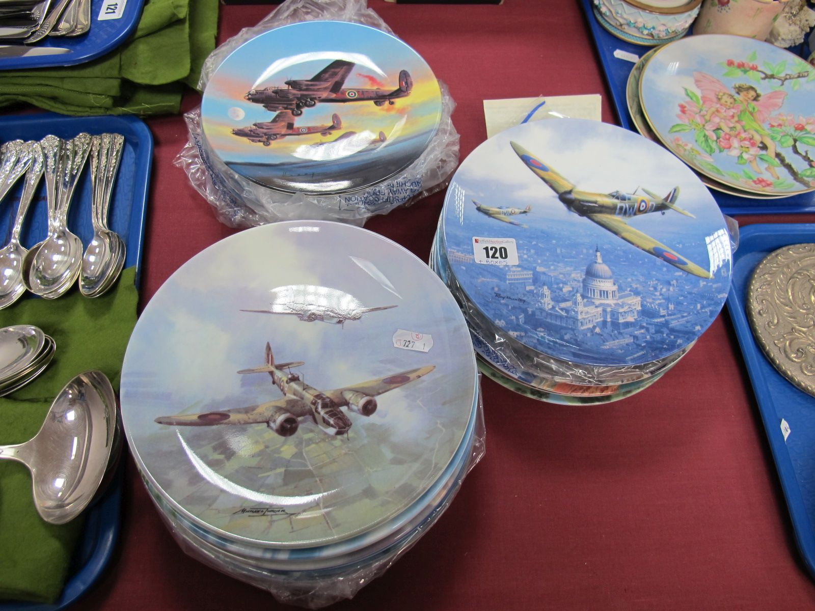 "Lot 120 - Twelve Coalport Plates From ""The Reach for the Sky"" Series; plus thirteen others similar by Royal"