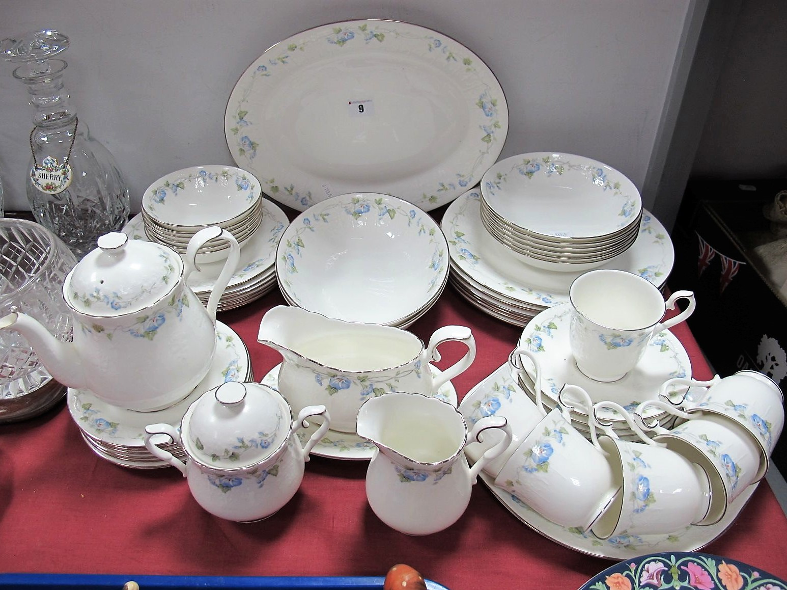 "Lot 9 - A Quantity of Royal Albert ""For All Seasons-Morning Flower"" Pattern Tea and Dinnerwares, ("