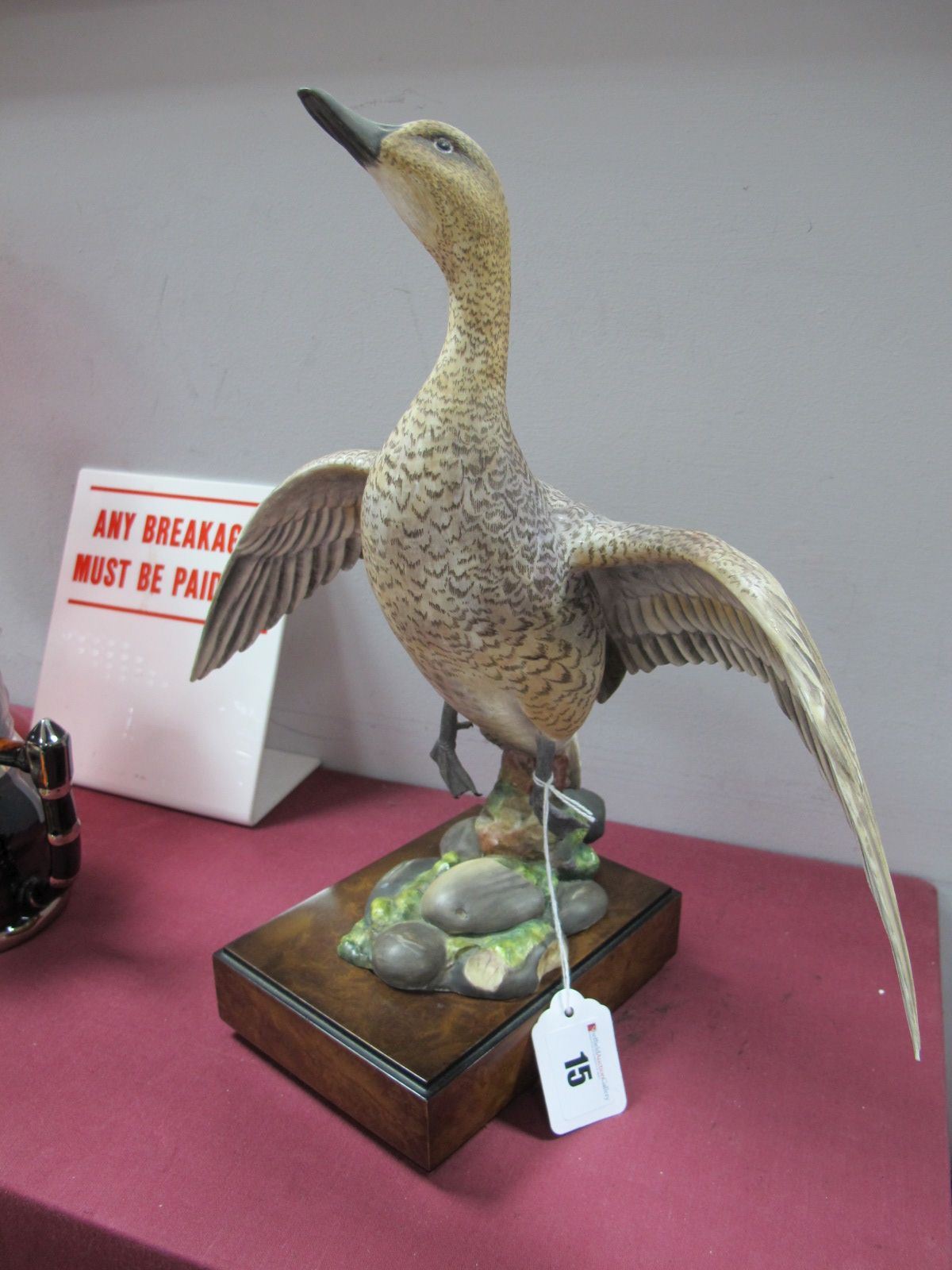 Lot 15 - A Royal Worcester American Pintail (Hen), modelled by Ronald Van Ruyckevelt, numbered 213, on