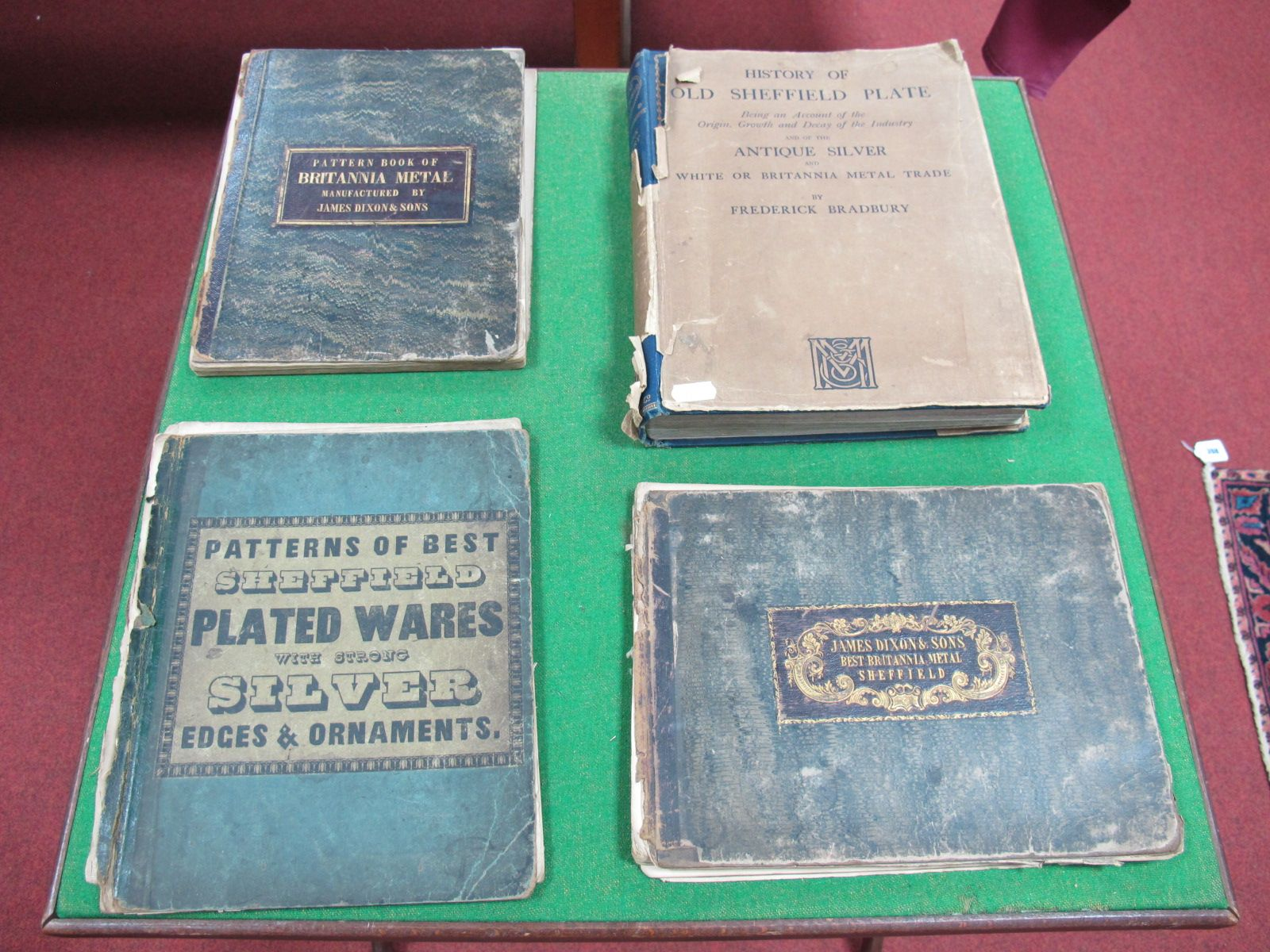 """Lot 368 - """"Pattern Book of Britannia Metal-Manufactured by James Dixon and Sons"""", late XIX Century, (missing"""