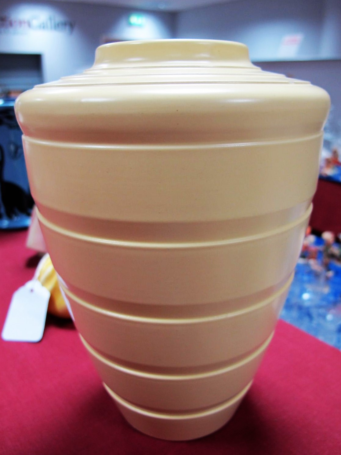 Lot 86 - A Wedgwood Vase, designed by Keith Murray, of shouldered ovoid form with incised horizontal bands,
