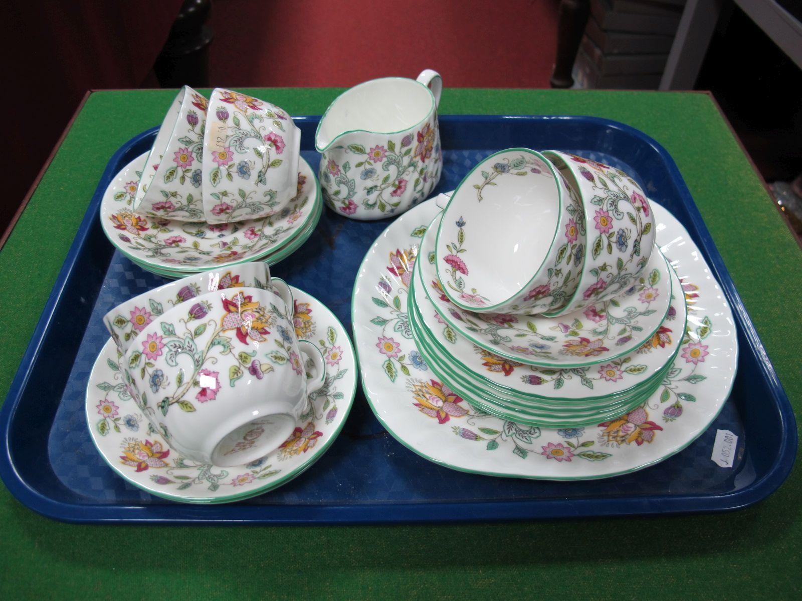 "Lot 42 - Minton ""Haddon Hall"" Tea Service."