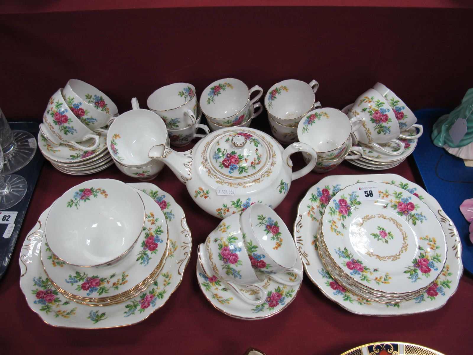 Lot 58 - Royal Chelsea and Royal Grafton Bone China Tea Service, of forty-six pieces.