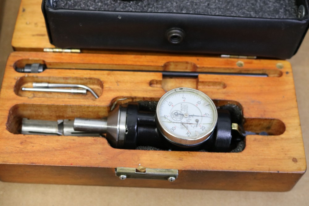 """Lot 42 - Chamfer Gage 0-90 Degrees and Blake 0-.6"""" Co-ax Indicator"""