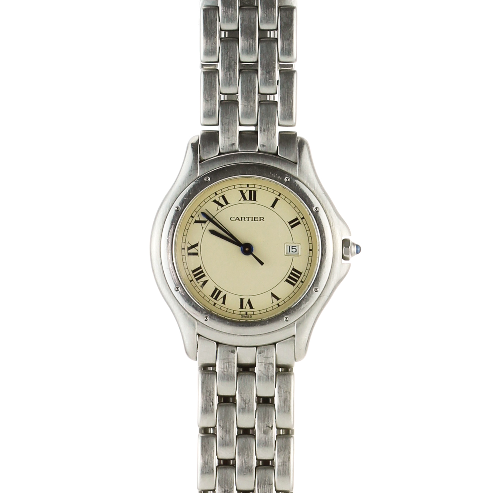 Los 219 - CARTIER A stainless steel Panthere Cougar Quartz wristwatch by Cartier circa 1990 with 32x36mm
